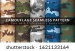 set pixel camouflage military... | Shutterstock .eps vector #1621133164