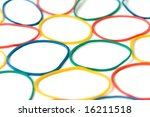 assorted of colorful rubber... | Shutterstock . vector #16211518