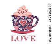 sweetheart holiday vector... | Shutterstock .eps vector #1621163974