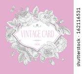 vector vintage postcard. frame... | Shutterstock .eps vector #162116531
