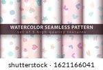Watercolor Seamless Pattern Set ...