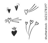 simple doodle heart icon... | Shutterstock .eps vector #1621178197