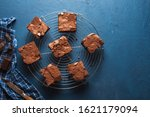 Chocolate Brownies Squares On A ...