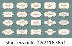 vintage labels  frames. old... | Shutterstock .eps vector #1621187851