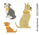 cartoon dogs | Shutterstock .eps vector #162123689