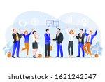 partnership  team agreement... | Shutterstock .eps vector #1621242547