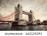 tower bridge in london  england ... | Shutterstock . vector #162125291