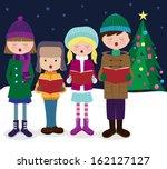 Group Of Kids Chorus Singing...