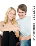 an attractive young couple...   Shutterstock . vector #16212721