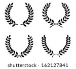 laurel wreaths  vector isolated | Shutterstock .eps vector #162127841