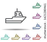 sailboat in multi color style...