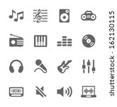 simple icon set related to... | Shutterstock .eps vector #162130115