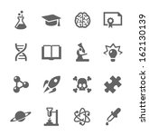 simple set of science related... | Shutterstock .eps vector #162130139
