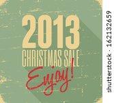 christmas sale retro poster... | Shutterstock .eps vector #162132659