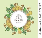 background with falafel in pita ...   Shutterstock .eps vector #1621327177