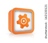gear icon.isolated on white.3d...