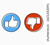 like and dislike vector...   Shutterstock .eps vector #1621332091