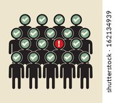 alert  suspicious person in the ... | Shutterstock .eps vector #162134939