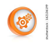 gears icon.isolated on white.3d ...