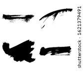 set of black brush stroke and...   Shutterstock .eps vector #1621379491