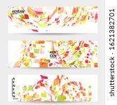 square pixel multicolored...   Shutterstock .eps vector #1621382701