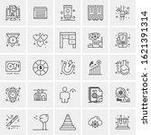25 universal icons vector...   Shutterstock .eps vector #1621391314