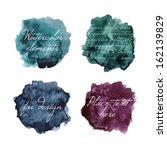 beautiful watercolor elements... | Shutterstock .eps vector #162139829