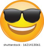 cool emoticon in sunglasses.... | Shutterstock .eps vector #1621413061