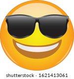 cool emoticon in sunglasses.... | Shutterstock .eps vector #1621413061
