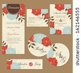 set of vintage floral wedding... | Shutterstock .eps vector #162146555