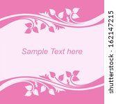 Stock vector background with floral borders in shades of pink 162147215