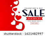 valentines day sale poster...   Shutterstock .eps vector #1621482997