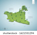 stylized map of india.... | Shutterstock .eps vector #1621531294