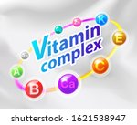 colorful vitamin complex... | Shutterstock .eps vector #1621538947