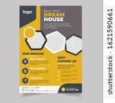 construction flyer  yellow... | Shutterstock .eps vector #1621590661