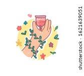 menstrual cup icon in cartoon... | Shutterstock .eps vector #1621639051
