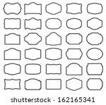thirty blank vector labels  you ... | Shutterstock .eps vector #162165341