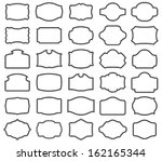 thirty blank vector labels  you ... | Shutterstock .eps vector #162165344