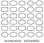 thirty blank  labels | Shutterstock . vector #162166001