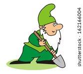 elf and spade  vector icon | Shutterstock .eps vector #162166004