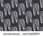 seamless pattern of blue...   Shutterstock . vector #1621660894
