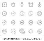 set of time and clock icons...