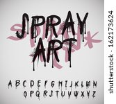 graffiti splash alphabet ... | Shutterstock .eps vector #162173624