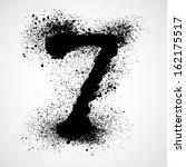grunge letter   alphabet symbol ...   Shutterstock .eps vector #162175517