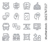 education related line icon set....
