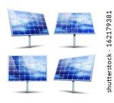 solar panels vector... | Shutterstock .eps vector #162179381