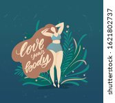 body positive poster with... | Shutterstock .eps vector #1621802737