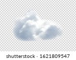 vector realistic isolated cloud ... | Shutterstock .eps vector #1621809547