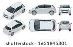 subcompact hatchback car.... | Shutterstock .eps vector #1621845301
