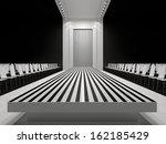 fashion empty runway   Shutterstock . vector #162185429